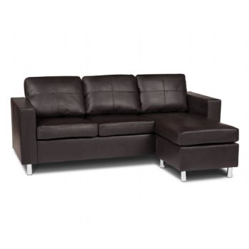 Corner Faux Leather Sofa
